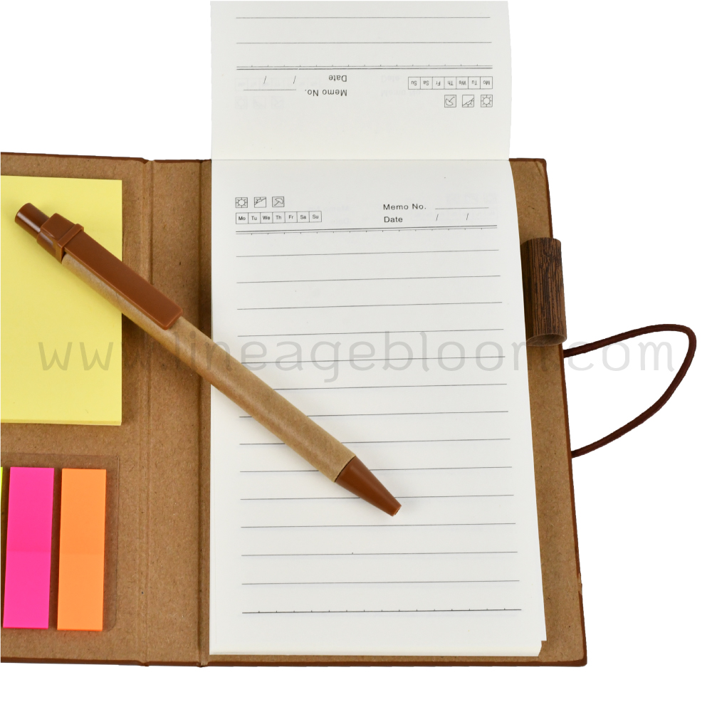 สมุดปกลายไม้ รุ่น EC - 8958