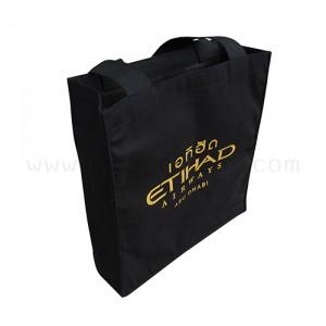กระเป๋าผ้าแคนวาสเอทิฮัด สกรีนโลโก้สีทอง