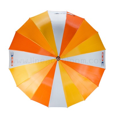 ร่มตอนเดียว 16 ก้าน โทนสีส้ม สกรีนโลโก้ 3BB