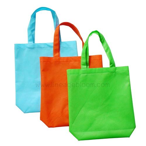 กระเป๋าผ้าสปันบอน สีฟ้า เขียว ส้ม