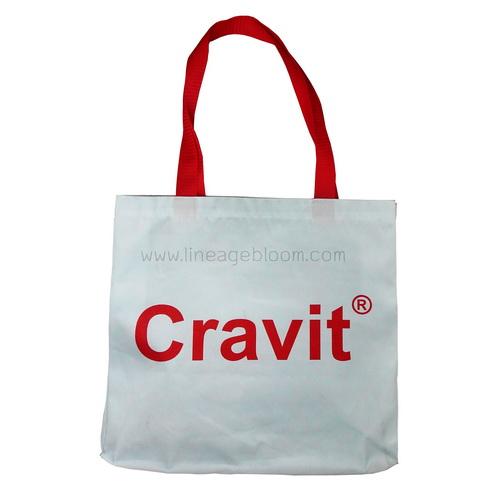 กระเป๋าผ้าดิบลายสอง กว้าง 13 x สูง 12 x ข้าง 3 นิ้ว