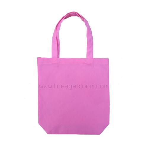 กระเป๋าผ้าสปันบอน สีชมพู