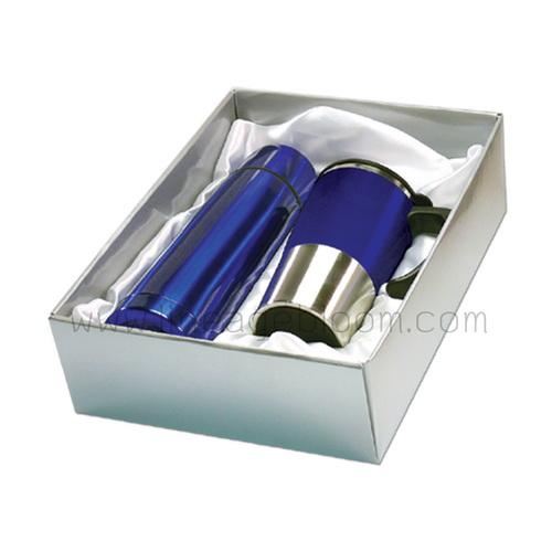ชุดกระบอกน้ำสแตนเลสสีน้ำเงิน
