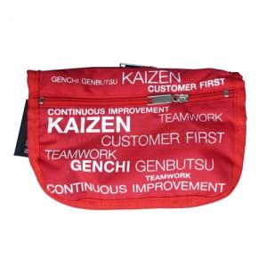 กระเป๋าผ้าร่ม KAIZEN Toyota สีแดง