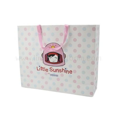 ถุงกระดาษ Little Sunshine ด้านสีชมพู