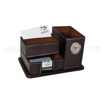 นาฬิกาตั้งโต๊ะ รุ่น BC-B682B + Clock-brown