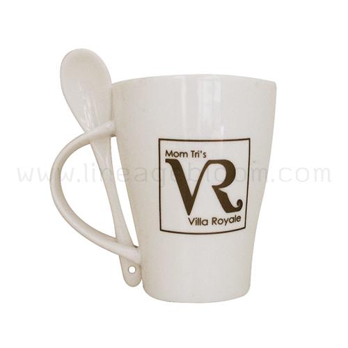 งานแก้วเซรามิก รุ่น CM 02 โลโก้ Villa Royale