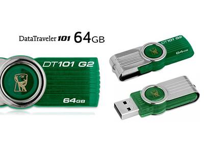 แฟลชไดร์ฟ Kingston รุ่น 101 G2 สีเขียว ความจุ 64GB