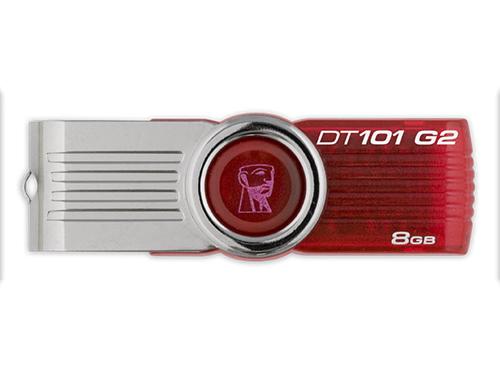 แฟลชไดร์ฟ Kingston รุ่น 101 G2 สีแดง ความจุ 8GB