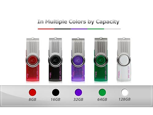 แฟลชไดร์ฟ Kingston รุ่น 101 G2 มีทั้งหมด 5 สี
