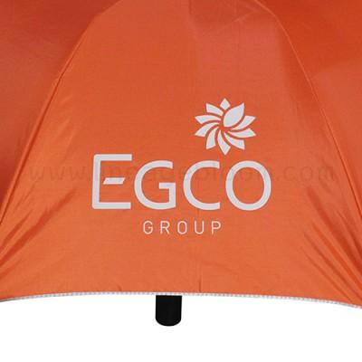 ร่มพับ 2 ตอน สีส้ม สกรีนโลโก้ EGCO GROUP สีขาว 4 ช่อง