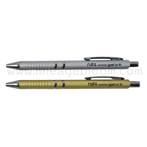 ปากกาพรีเมี่ยมรุ่น PP-9415 สีเทา,ทอง สกรีนโลโก้ กสจ. www.gpef.or.th 1 สี 1 ตำแหน่ง
