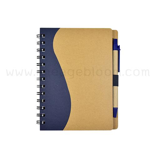 สมุดโน้ตรีไซเคิล รุ่น RDD-5759 เล่มสีน้ำเงิน