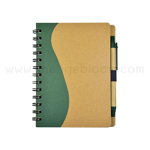 สมุดโน๊ตรีไซเคิล รุ่น RDD-5759 เล่มสีเขียว