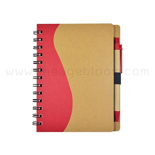สมุดโน๊ตรีไซเคิล รุ่น RDD-5759 เล่มสีแดง