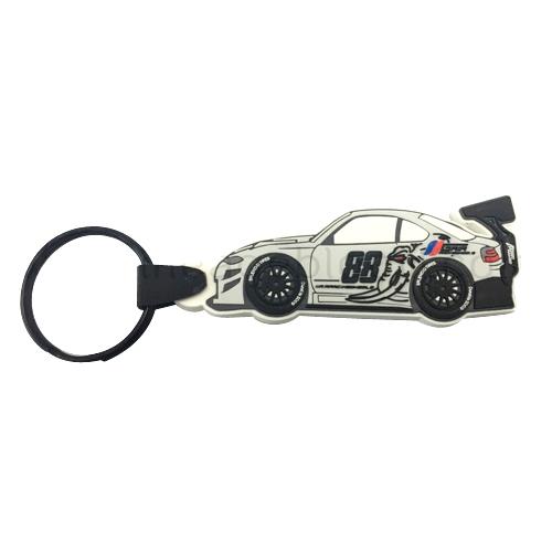พวงกุญแจยางหยอดรูปรถยนต์ 88 7 สี 1 ด้าน