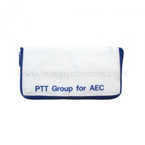กระเป๋าผ้าแคนวาส PTT AEC สีฟ้า แบบพับ