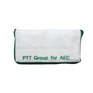 กระเป๋าผ้าแคนวาส PTT AEC สีเขียว แบบพับ