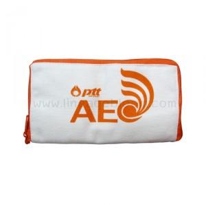 กระเป๋าผ้าแคนวาส PTT AEC สีส้ม แบบพับ