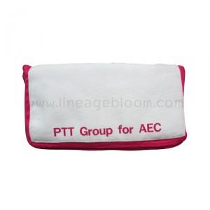 กระเป๋าผ้าแคนวาส PTT AEC สีชมพู แบบพับ