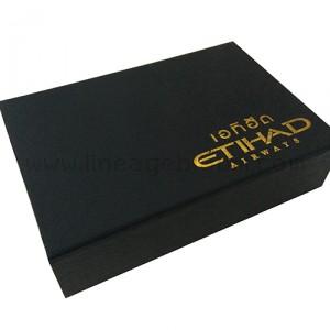 กล่องแฟลชไดร์ฟเอทิฮัดสีดำ สกรีนสีทอง
