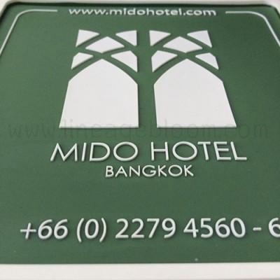 จานรองแก้วยางหยอด Mido hotel